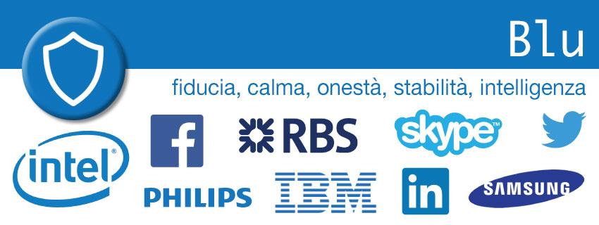 Blu - colori nel marketing